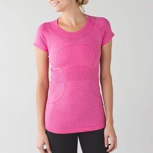 Lululemon Run Swiftly Tech Short Sleeve Pink Sz 4